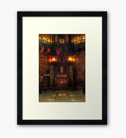 Thistle Chapel Framed Print