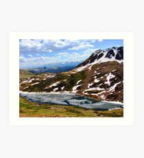 Alpine Lake - Beartooth Highway Art Print