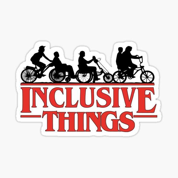 Inclusive Things Pegatina brillante