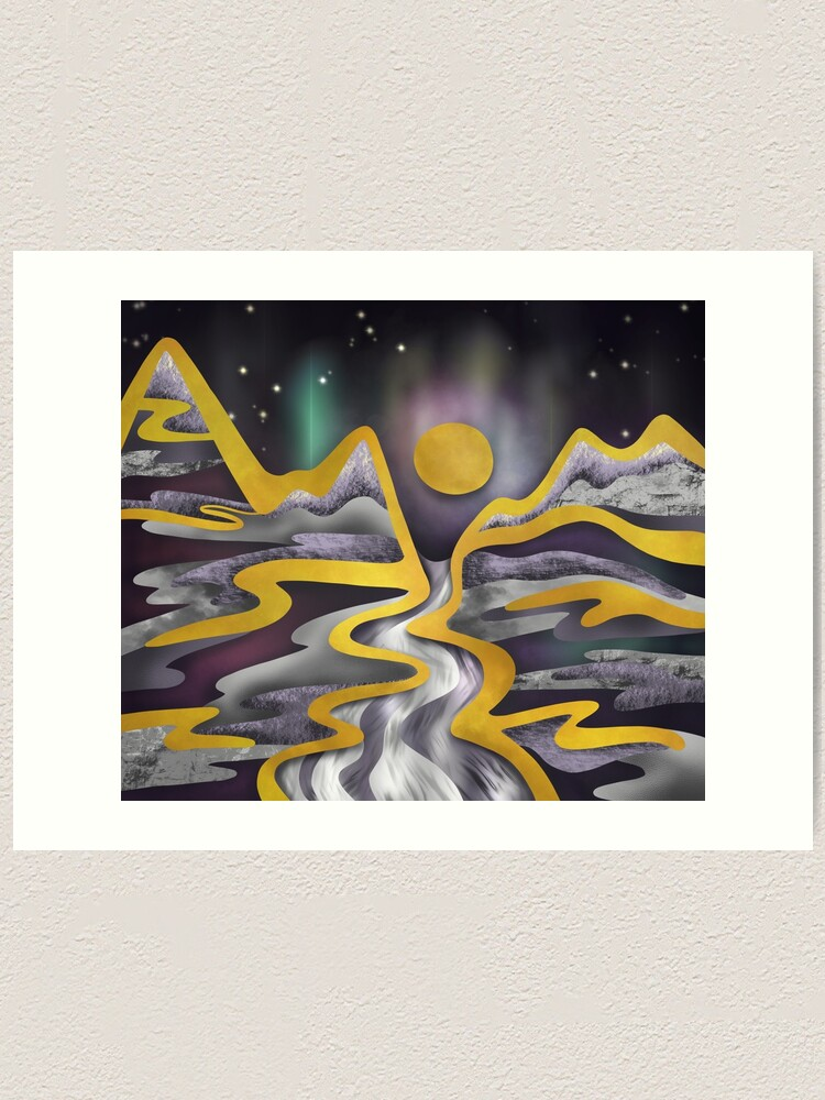 Alternate view of Full moon aurora Art Print