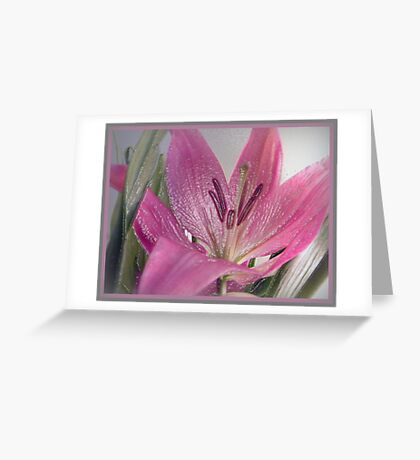 Textured Lily Greeting Card