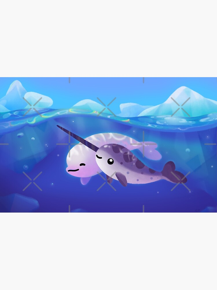 Beluga and Narwhal by pikaole