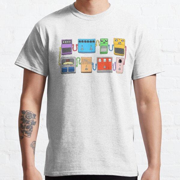 GUITAR PEDALS Recording Studio Engineer Guitarist Gear Foot Effect Pedals Music Illustration Mug Sticker T-Shirt Etc... Classic T-Shirt