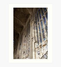 Gothic windows Art Print