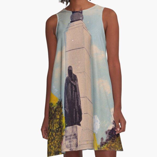 Hologram Monument A-Line Dress