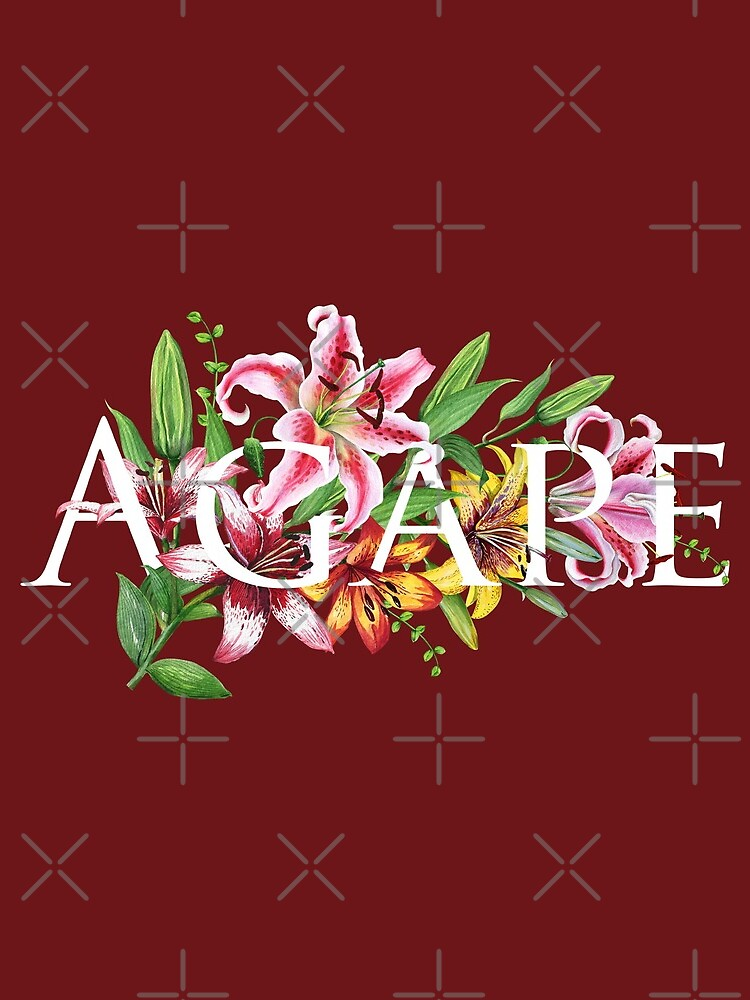 AGAPE (MAROON FLORAL) by JenielsonDesign