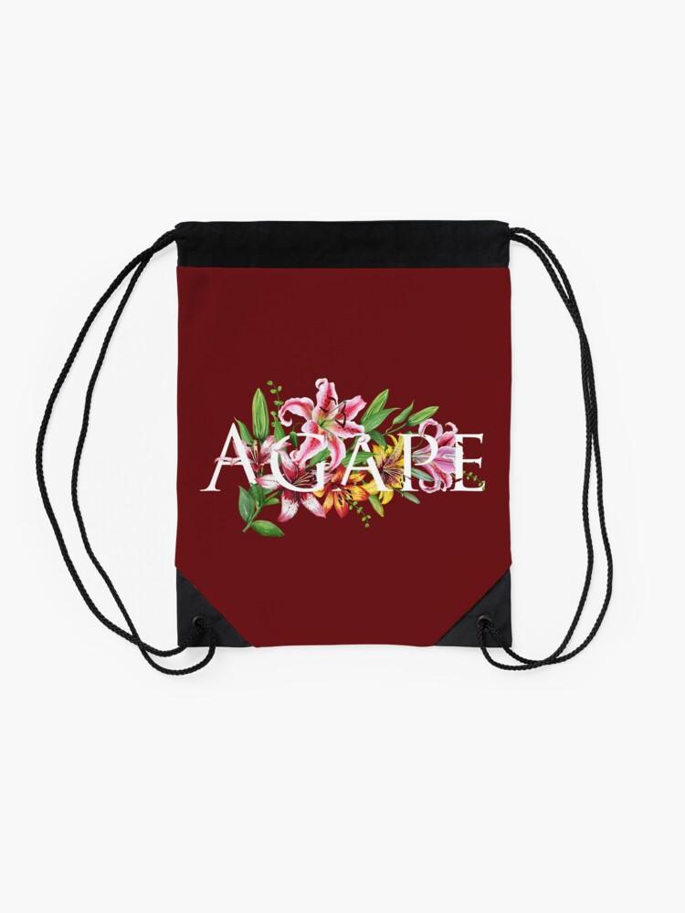 Alternate view of AGAPE (MAROON FLORAL) Drawstring Bag