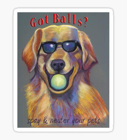 Got Balls? Golden Retriever Sticker