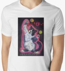 Got Balls? Juggling Cat Men's V-Neck T-Shirt