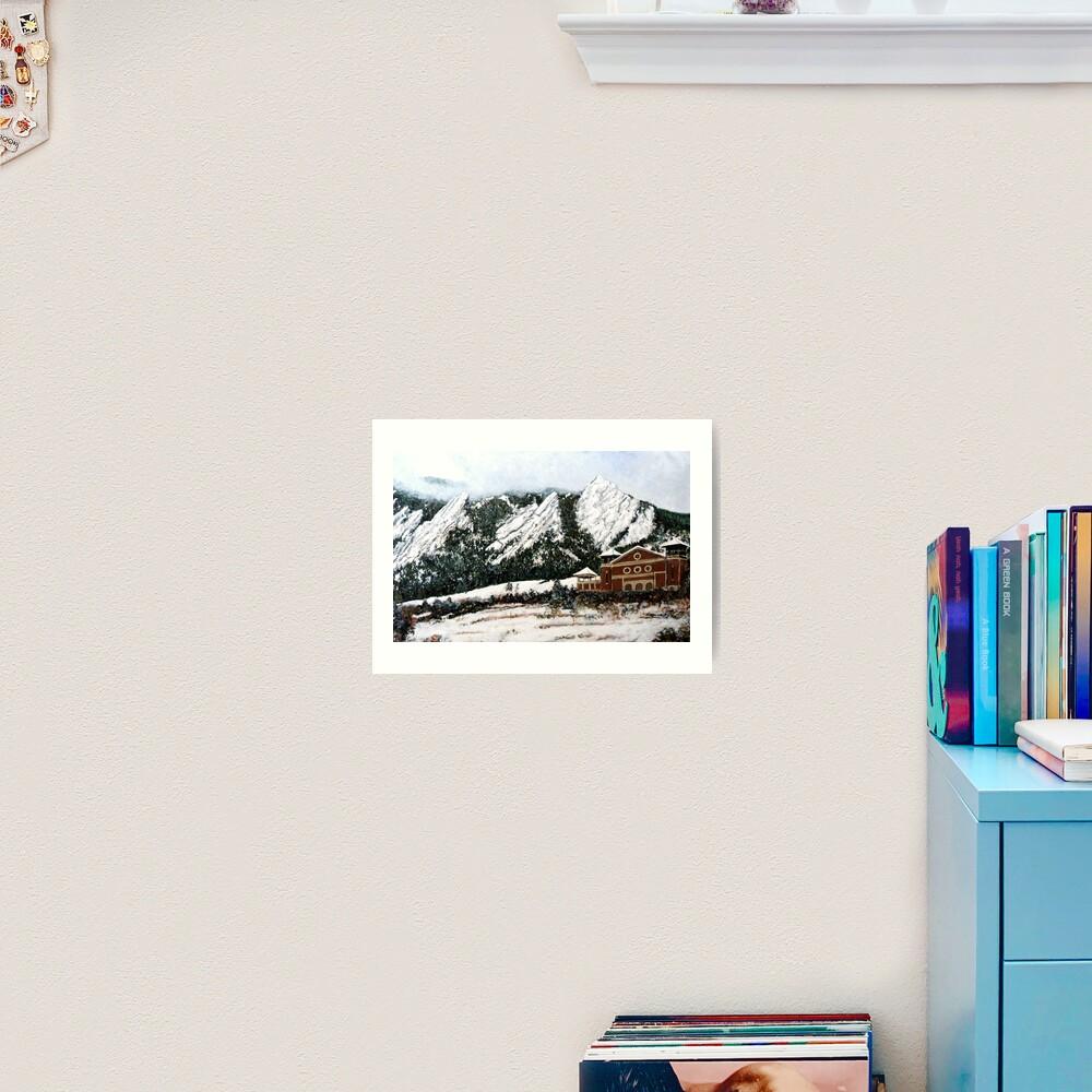Chautauqua - Winter, Late Afternoon Art Print
