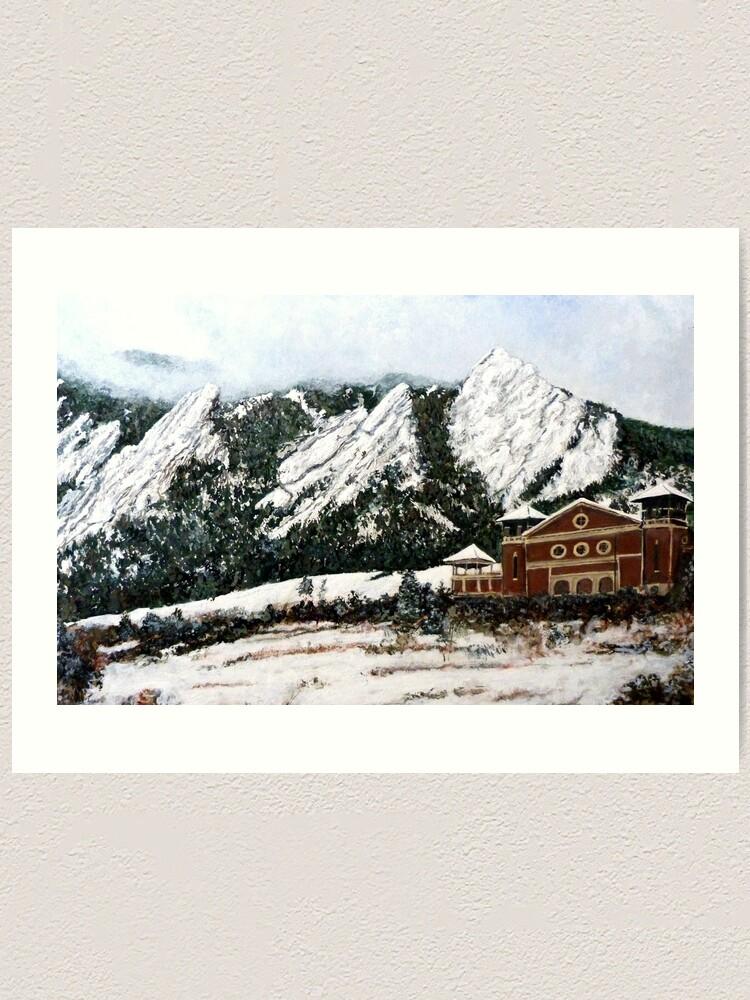 Alternate view of Chautauqua - Winter, Late Afternoon Art Print