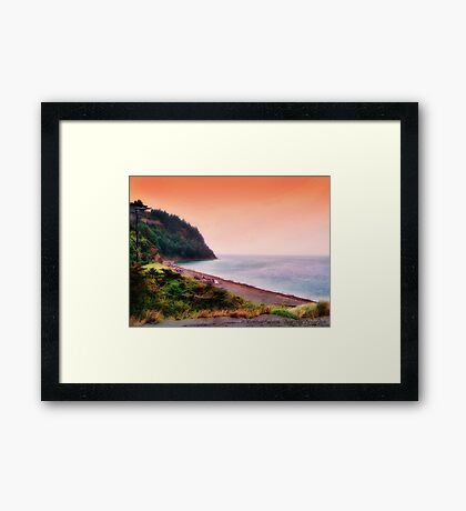 At the Edge of the World Framed Print