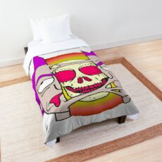 Rick Sanchez from Rick and Morty. Special trippy design.  Comforter
