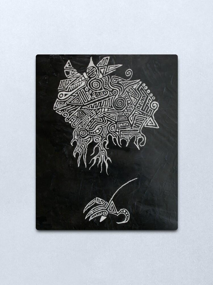 Alternate view of Iguana Metal Print