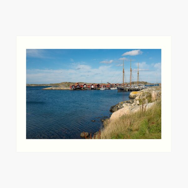 An old sailing ship in the archipelago outside Gothenburg, Sweden Art Print