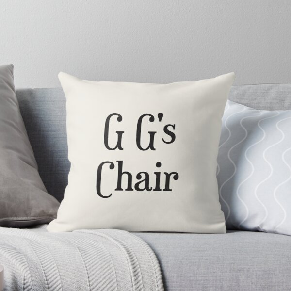 G G's Chair Throw Pillow
