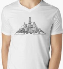 Hong Kong Skyline V-Neck T-Shirt