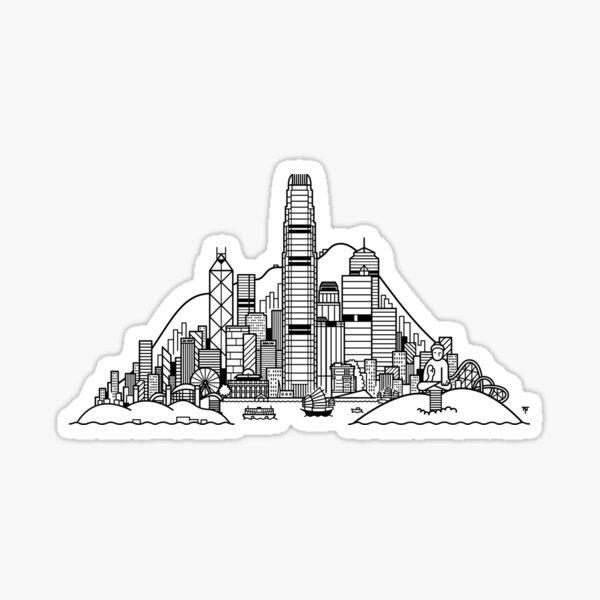 Hong Kong Skyline Sticker