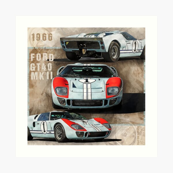 Tribute to Ford GT40 MKII 1966 Impression artistique