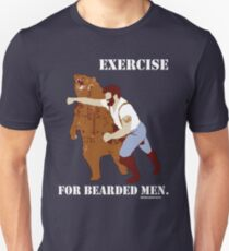 Exercise for Bearded Men T-Shirt