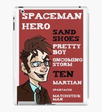 Sand Shoes and other phrases - The Tenth Doctor iPad Case/Skin