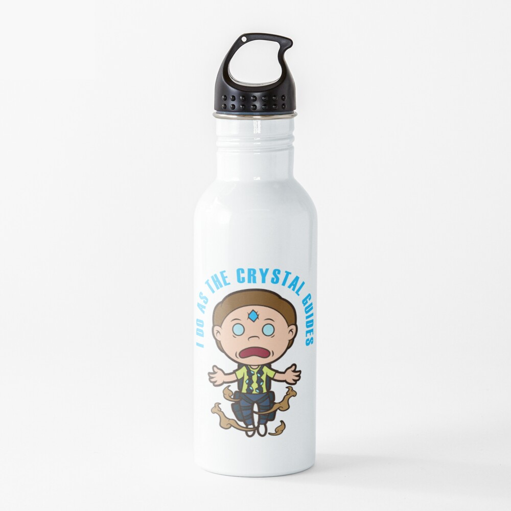 Death Crystal Morty Water Bottle