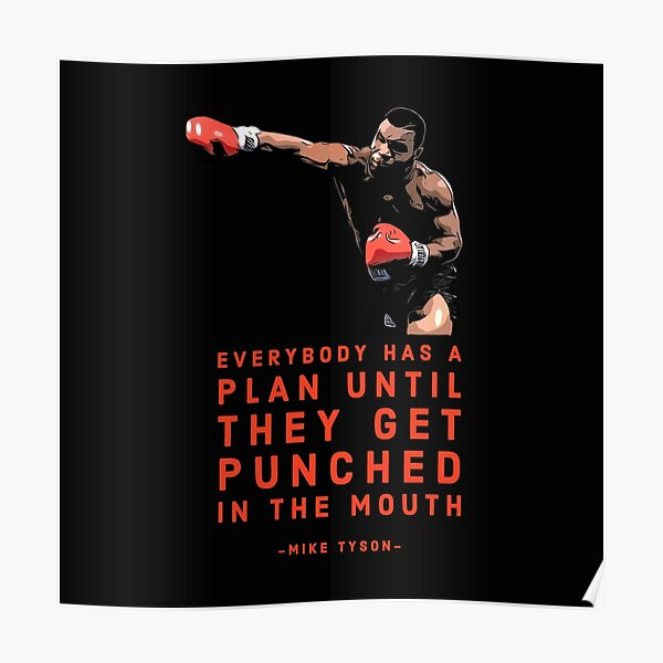 J-288 Mike tyson KO Battle Motivational Quote Boxing Star Art Poster Print