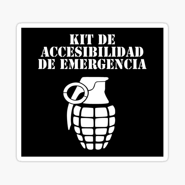 Kit Accesibilidad de emergencia Pegatina