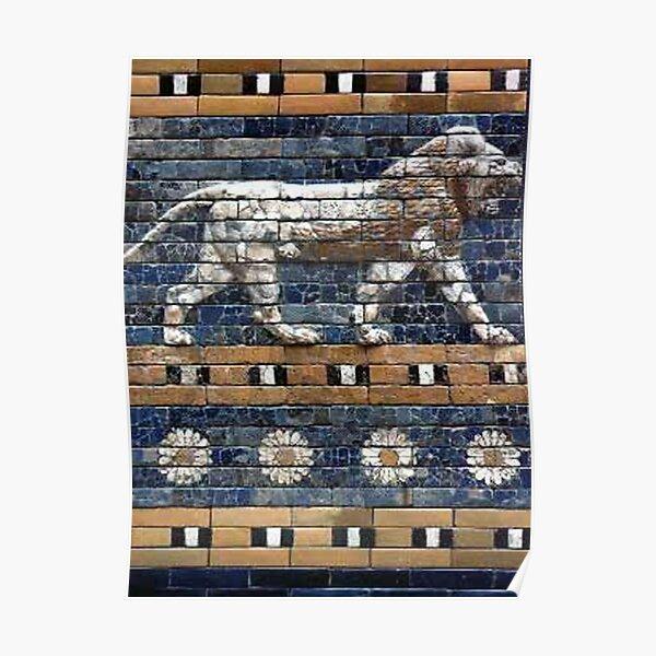 BABYLON, Gates of Babylon. Detail of the Ishtar Gate reconstruction. Poster