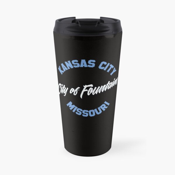 Kansas City - City of Fountains Powder blue  Travel Mug