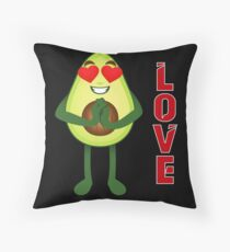 Avocado Emoji Throw Pillow