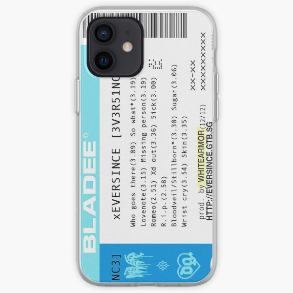 Bladee Eversince Ticket iPhone Soft Case