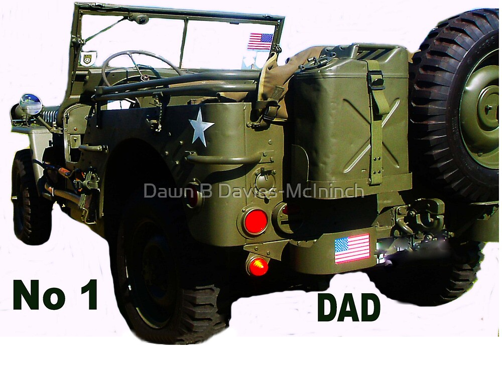 WW2 Jeep - Father's Day Card by Dawn B Davies-McIninch