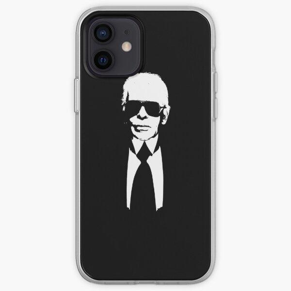 Karl Lagerfeld - en noir et blanc Coque souple iPhone