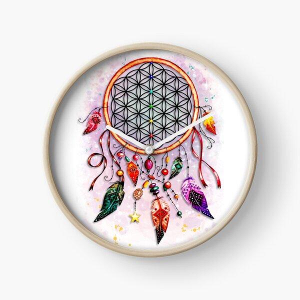Dream Catcher Flower of Life Clock