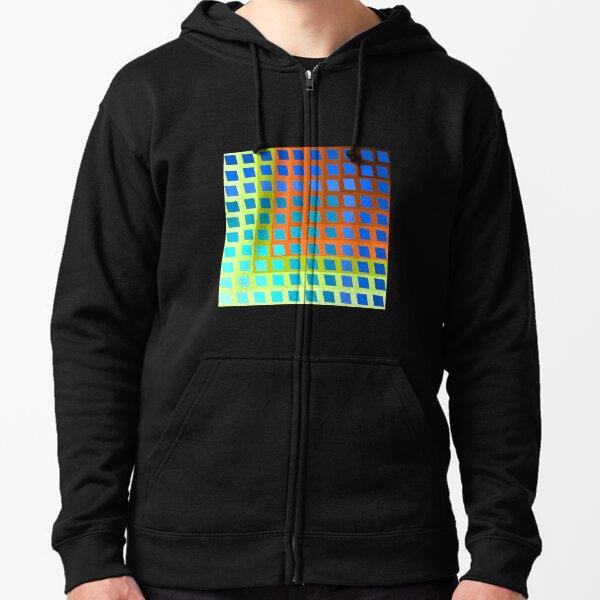 Rainbow Squares 2 Zipped Hoodie
