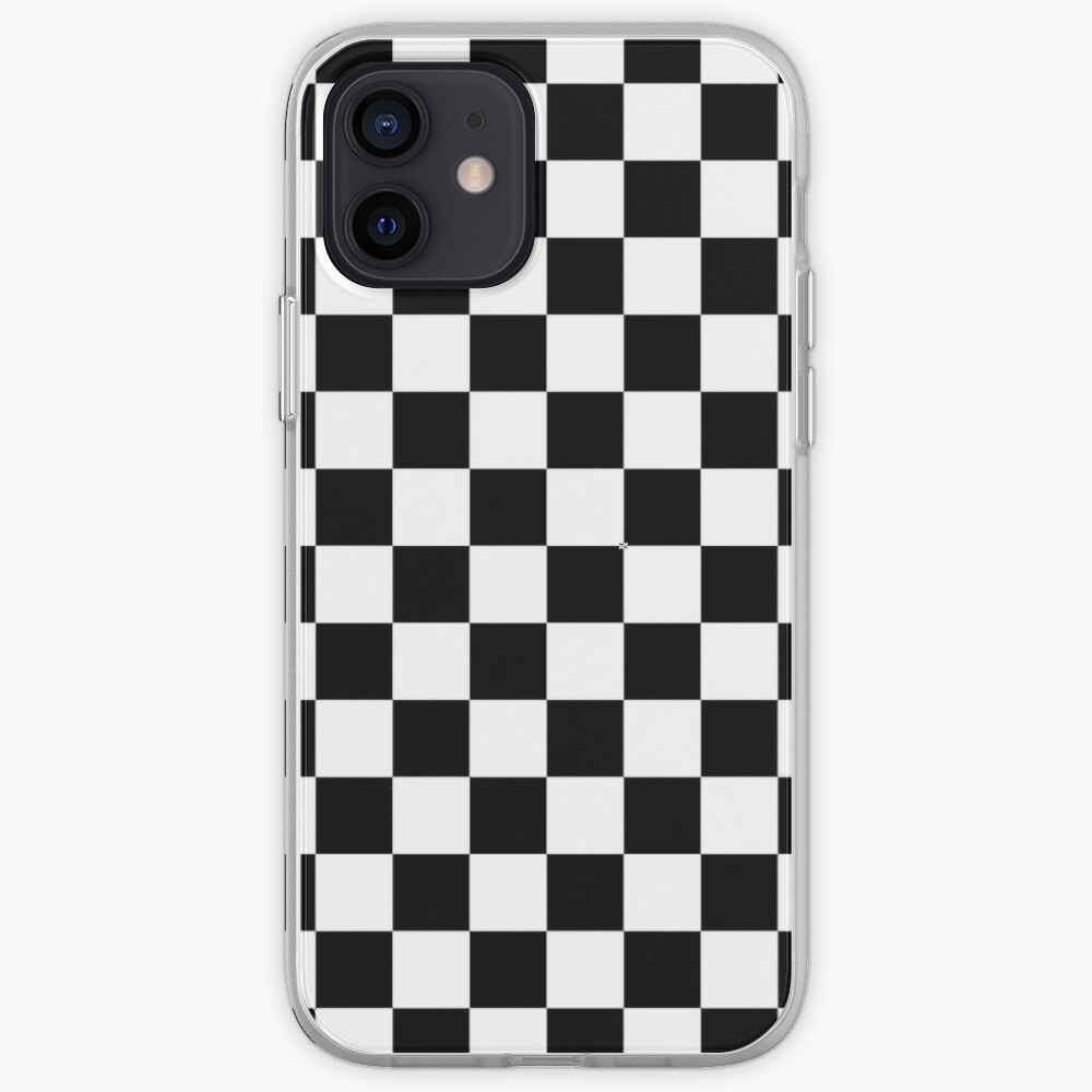 Black And White Checkerboard Pattern iPhone Case & Cover
