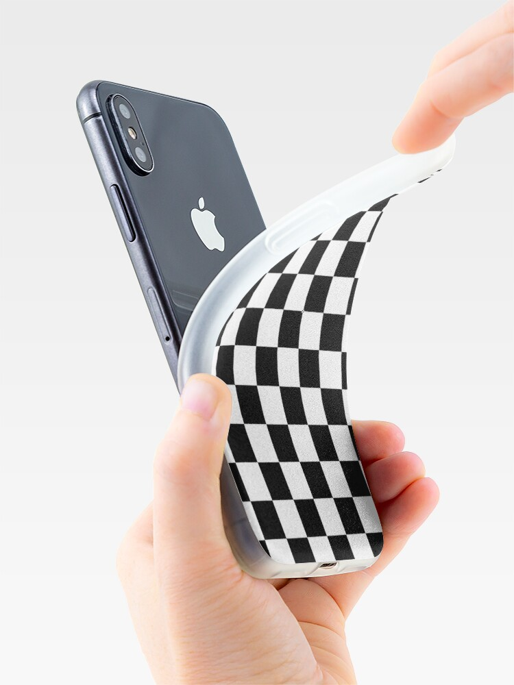 Alternate view of Black And White Checkerboard Pattern iPhone Case & Cover