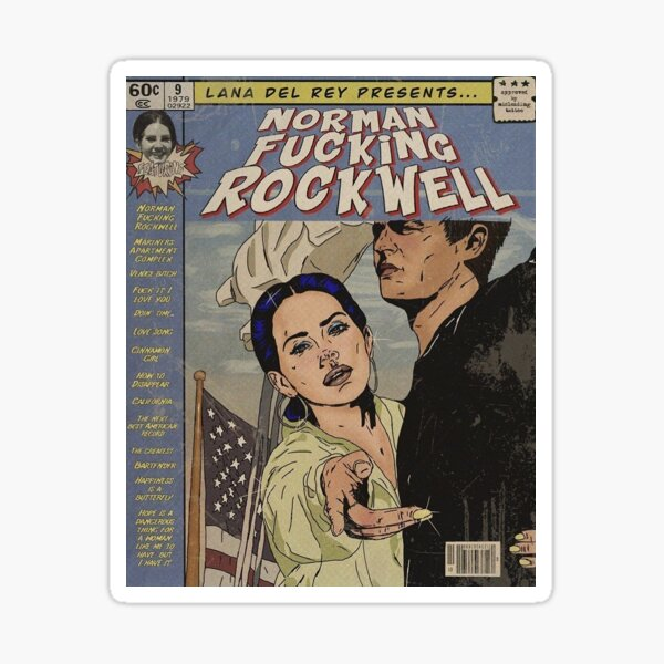 Norman F Rockwell poster Sticker