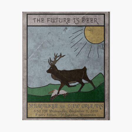 The Future is Deer Art Board Print