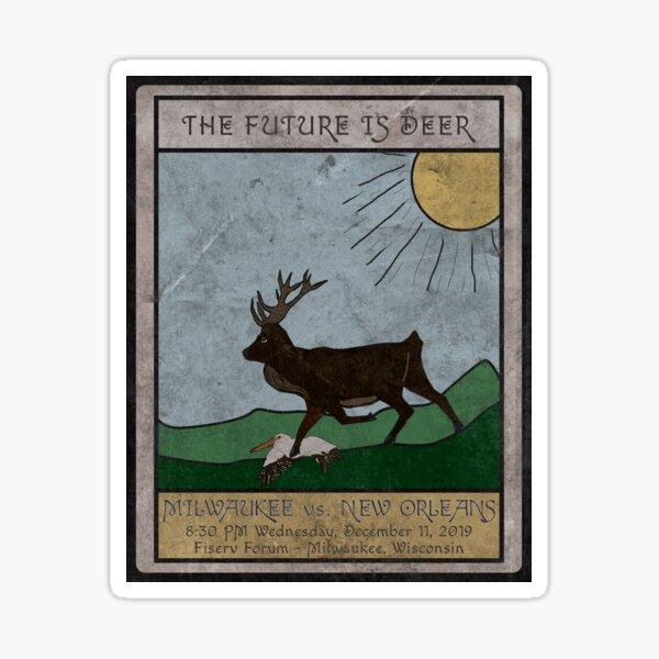 The Future is Deer Sticker