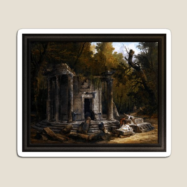 Temple Of Philosophy At Ermenonville by Hubert Robert Magnet