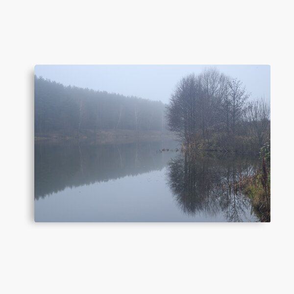 Fog over the River Canvas Print
