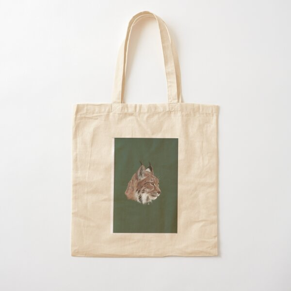 Portrait of Lynx Cotton Tote Bag
