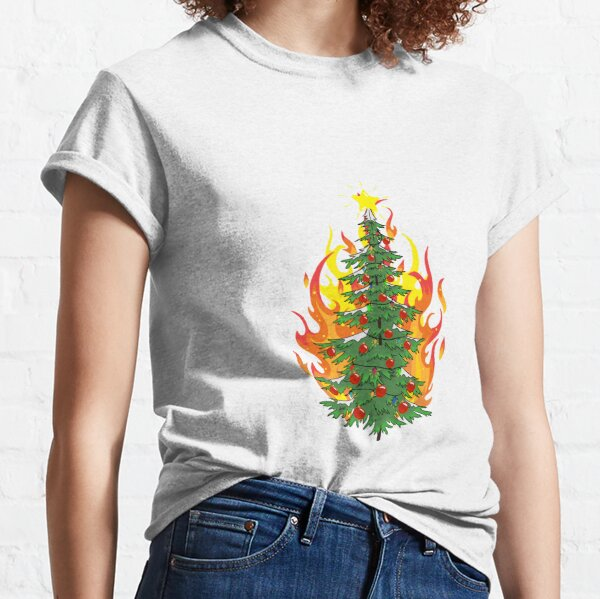 Burning Christmas Tree Classic T-Shirt