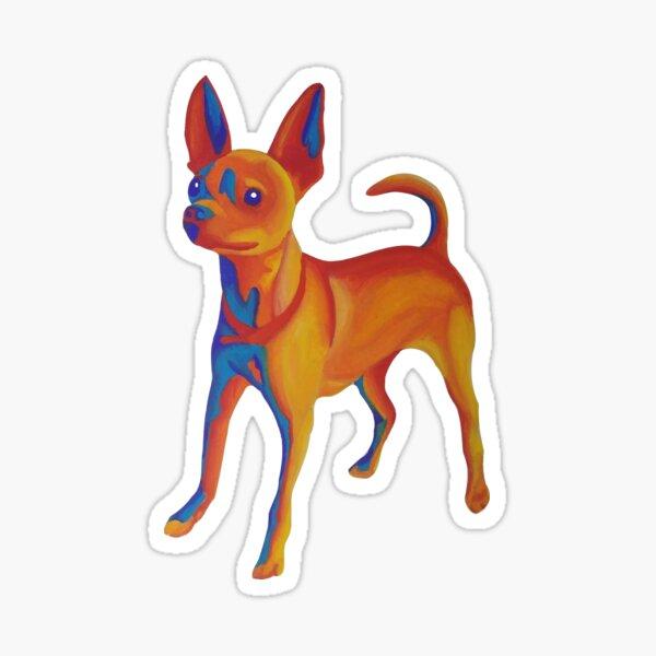 Mojo the Infrared Chihuahua Sticker