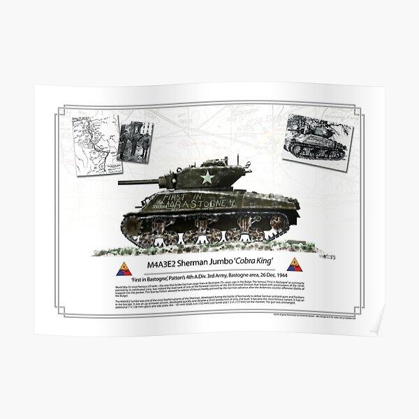 M4A3E2 Sherman Cobra King Poster