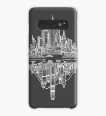 New York & Hong Kong Reversible Skylines - White Case/Skin for Samsung Galaxy