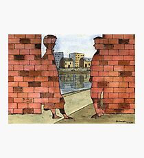 070 - IF ONLY THESE BRICKS COULD TALK I (WATERCOLOUR & INK) - 1997 Photographic Print