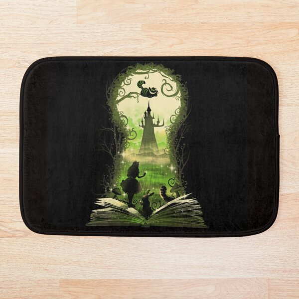 Wonderland key Bath Mat